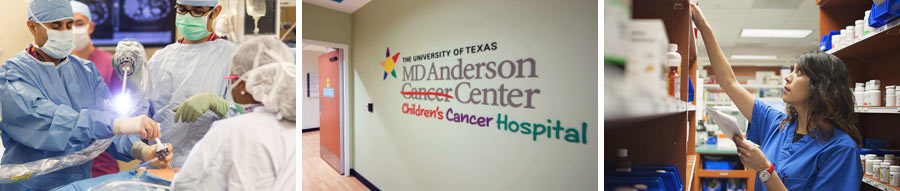 Collage of MD Anderson Images