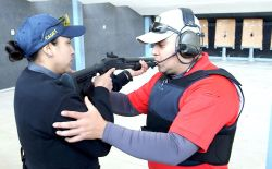 Gun range training and instruction.