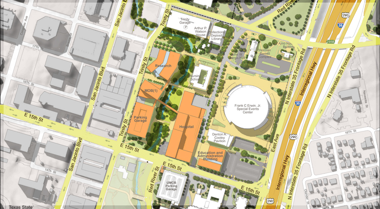 dell medical school map