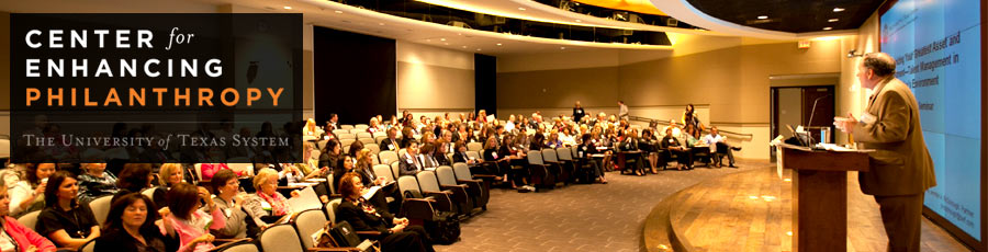 Center for Enhancing Philanthropy header image: Jim Noffkee talking at a meeting