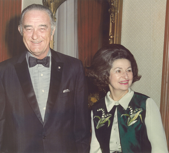 Photo of Regent Johnson and her husband, President Lyndon B. Johnson