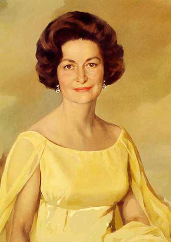 Official White House portrait of Lady Bird Johnson.