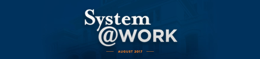 Header image text: System @ Work.  August 2017.