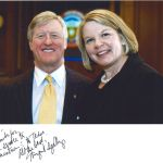 Chairman H. Scott Caven, Jr. with former U. S. Secretary of Education Spellings