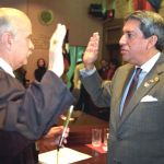 Mr. Robert A. Estrada being sworn in as Regent of The University of Texas System