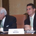 Regent Powell (left) and Regent Meijer at a Board Meeting in July 2009