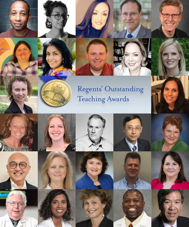 2020 Regents' Outstanding Teaching Awards full roster