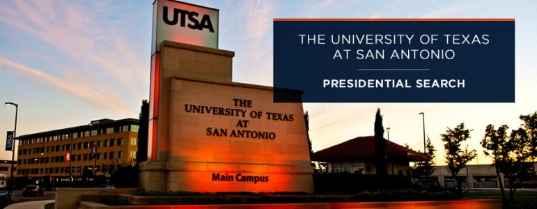 UT San Antonio Presidential Search