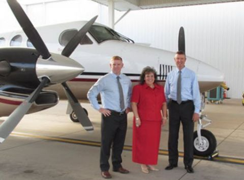 Aircraft Operations Team: Dave Crosby, Amy Mitchell, and Jeff Perkins
