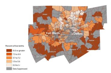Zip code map of Dallas/Fort Worth area