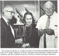Dr. Truman Blocker with Regent and Mrs. Connally at a Board Meeting in Galveston
